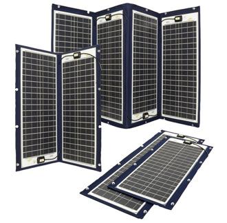 Sammenleggbare solcellepanel